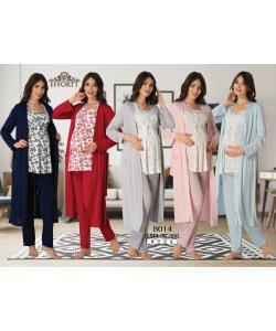 Effortt 8014 Sabahlıklı Lohusa Pijama Takım